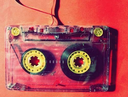 Gammalt kassettband.