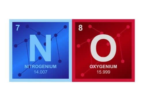 Sammansättningen av kväveoxid.