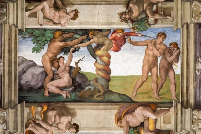 Målning av Michelangelo.