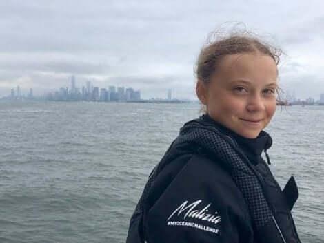 Greta vid havet