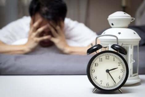 Man med sömnproblem