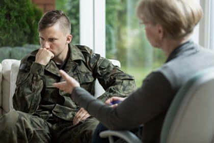 Soldat hos psykolog