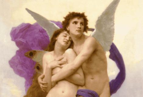 Målning av änglar.
