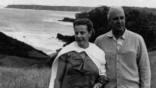 Ochoa med sin fru.