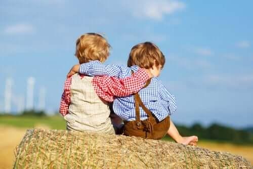 Pojkar på landet.