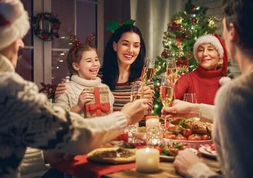 Familjemiddag på julen