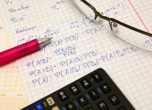 Test med matematik.