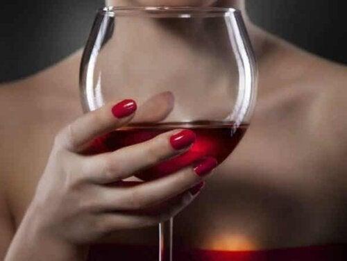 Ett glas rött vin