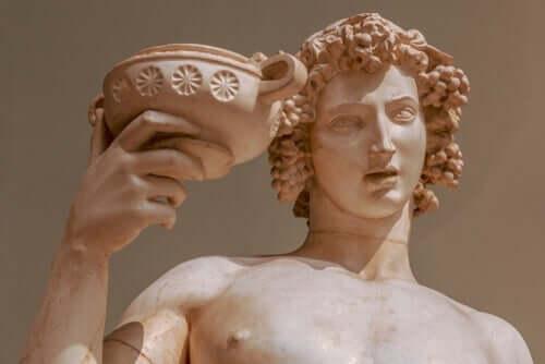 Myten om Dionysos, vinets och nöjets gud