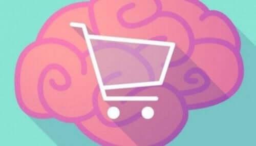 Shoppingvagn och hjärna.
