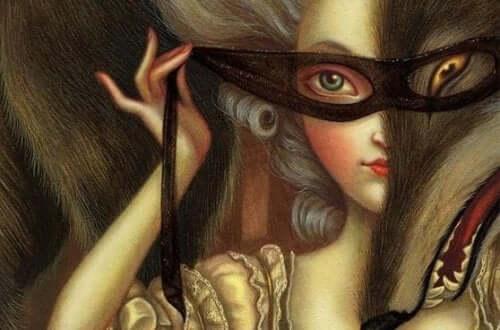 Att sätta på en mask är en typ av simulering, en av tre typer av falskhet.