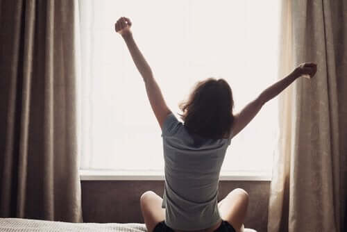 Vaknar på morgonen