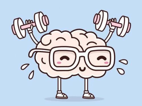 En hjärna som tränar