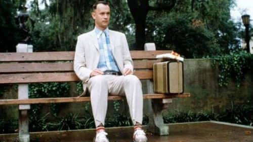 En scen från Forrest Gump med Tom Hanks som varit med i fler Oscarsbelönade filmer