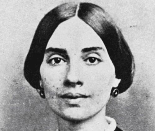 En senare tagen närbild av Emily Dickinson