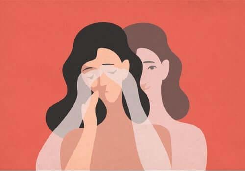 Teckning som föreställer en kvinna som reagerar starkt mot att folk trycker på hennes känsomässiga knappar.