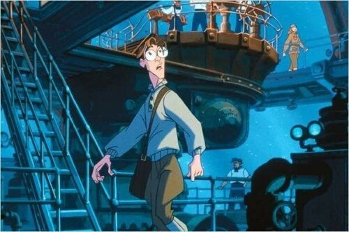 En scen med Milo i Atlantis