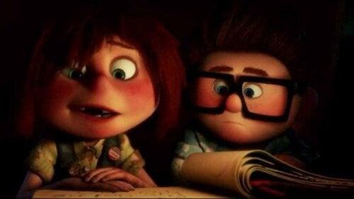 Carl och Ellie i Upp, en film om livsmål