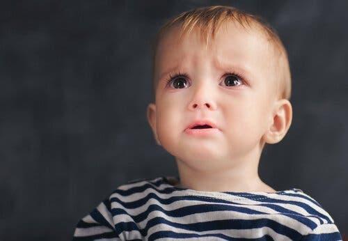 En ledsen pojke