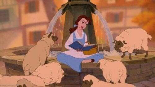 Belle i filmen Skönheten och odjuret från 1991