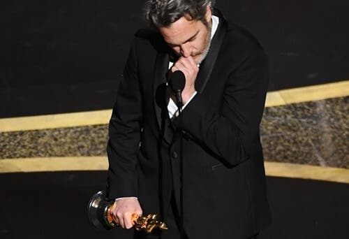 Joaquin Phoenix höll ett passionerat tacktal vid Oscarsceremonin