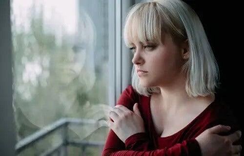 En deprimerad kvinna