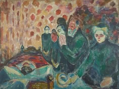 Döden var ofta temat i Edvard Munchs målningar