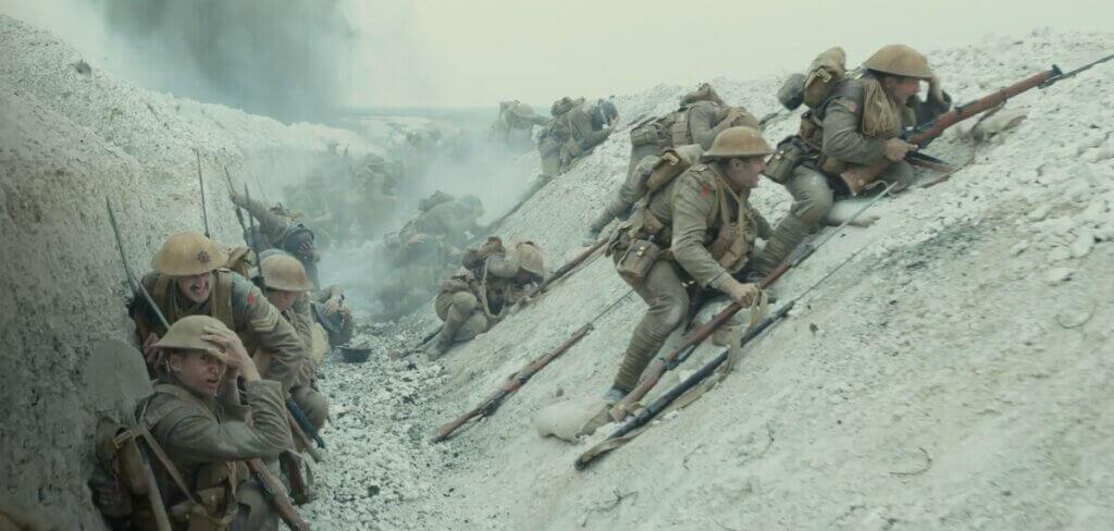 Skyttegravarna är ett centralt tema i filmen 1917