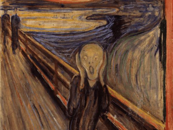 Konstnären Edvard Munch: målningar av kärlek ock död