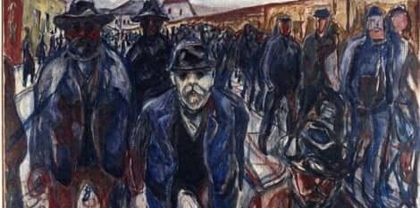 Konstnären Edvard Munch hade en säregen målarstil