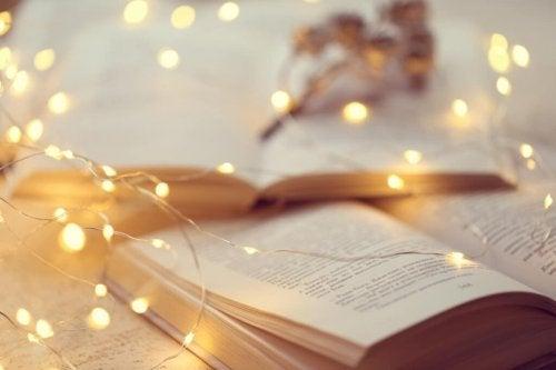 Ge bort en bok med ljus