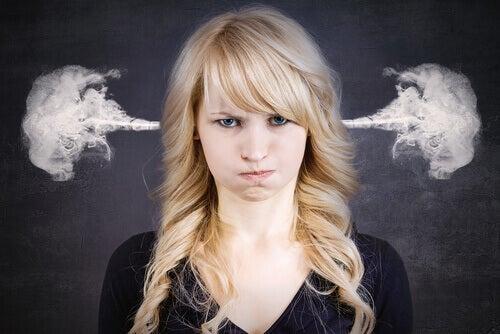 En arg kvinna