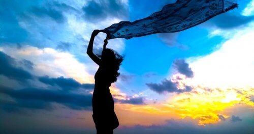 Hur du reagerar då vinden griper tag i din halsduk