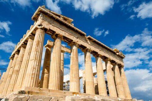 En bild av Parthenon