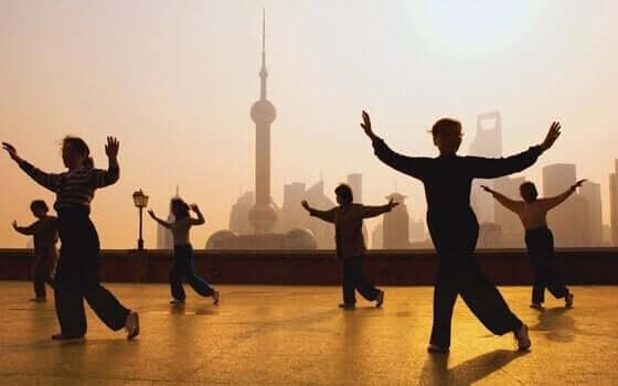 Många praktiserar taiji i Östvärlden