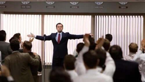 Leonardo Di Caprio i The Wolf of Wall Street