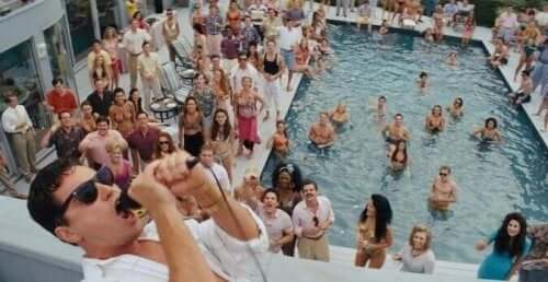 The Wolf of Wall Street poolfest