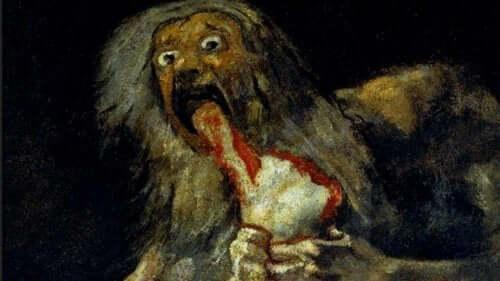 Saturnus slukar sin son av Goya