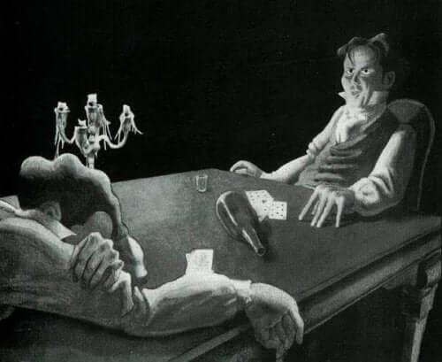 William Wilson spelar kort och dricker sprit
