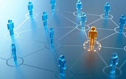 ett nätverk med människor
