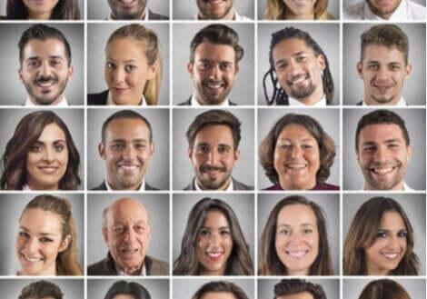 Bilder av olika ansiktsuttryck