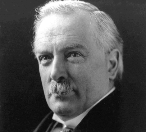 Ett foto av David Lloyd George, som hade hybrissyndromet