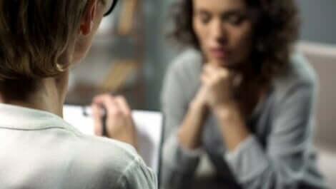 En terapeut och hennes patient