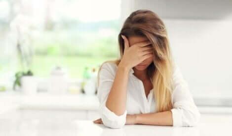 En ledsen kvinna