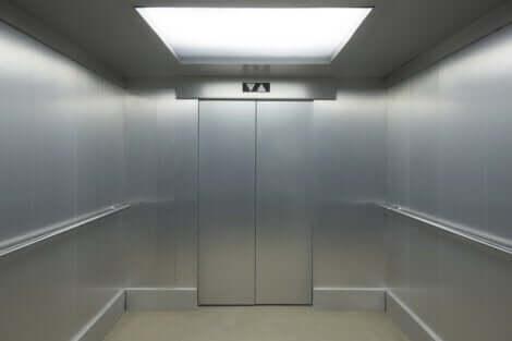 Insidan av en hiss