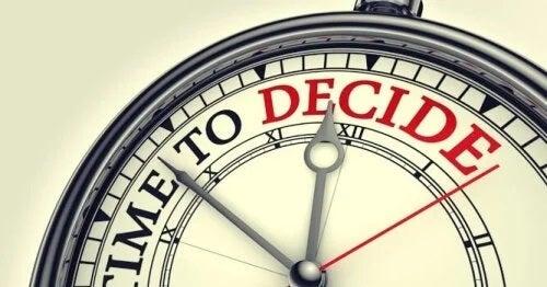 dags att ta beslut
