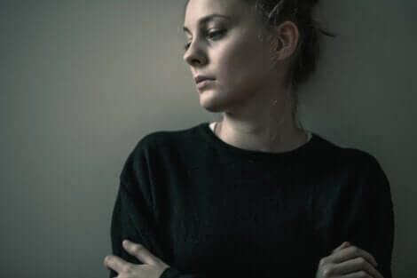 En ängslig kvinna