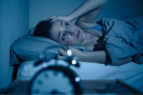 En kvinna som inte kan sova