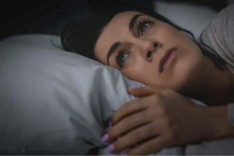 En kvinna med sömnlöshet