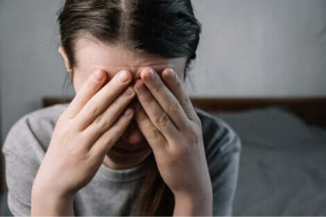 En stressad kvinna